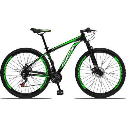 Bicicleta Dropp Aluminium T19 Aro 29 Susp. Dianteira 21 Marchas - Preto/verde