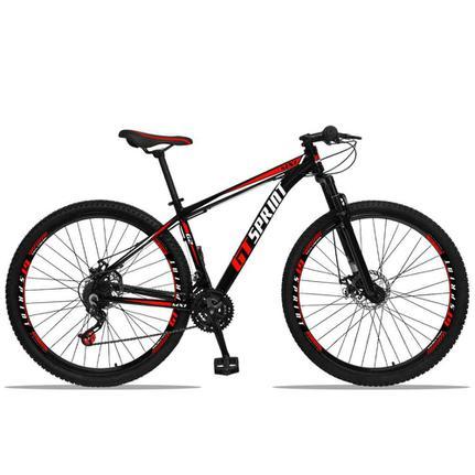 Bicicleta Gt Sprint Mx1 Disc T21 Aro 29 Susp. Dianteira 21 Marchas - Vermelho