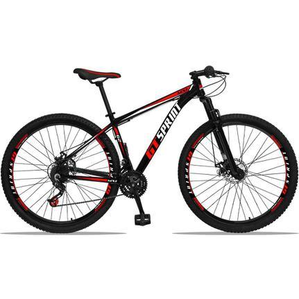 Bicicleta Gt Sprint Mx1 Disc T19 Aro 29 Susp. Dianteira 21 Marchas - Vermelho