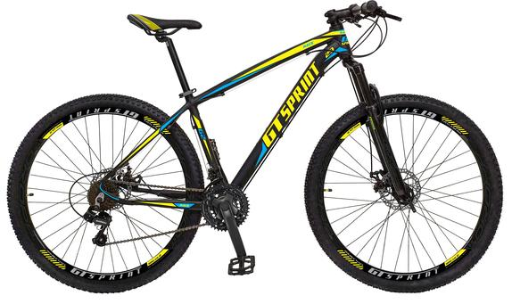Bicicleta Gt Sprint Race T19 Aro 29 Susp. Dianteira 21 Marchas - Amarelo/azul