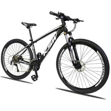 Bicicleta Ksw Xlt 2.0 Disc H T15 Aro 29 Susp. Dianteira 27 Marchas - Branco/preto