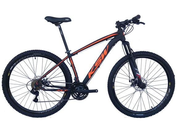 Bicicleta Ksw Xlt Disc H T17 Aro 29 Susp. Dianteira 21 Marchas - Preto/verde
