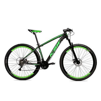 Bicicleta Ksw Xlt Disc H T15 Aro 29 Susp. Dianteira 24 Marchas - Preto/verde