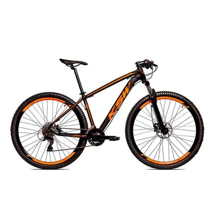 Bicicleta Ksw Xlt Disc H T19 Aro 29 Susp. Dianteira 24 Marchas - Laranja/preto