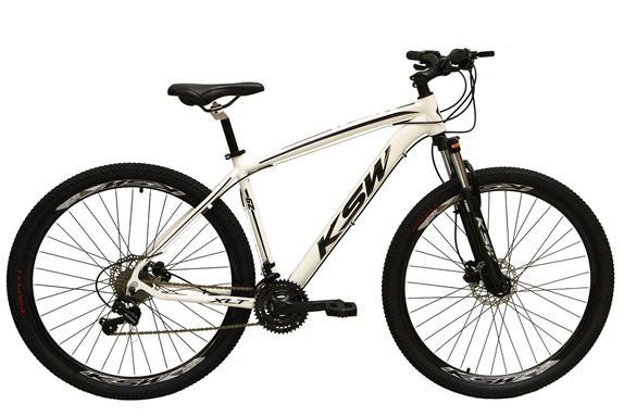 Bicicleta Ksw Xlt Disc M T17 Aro 29 Susp. Dianteira 24 Marchas - Branco/preto