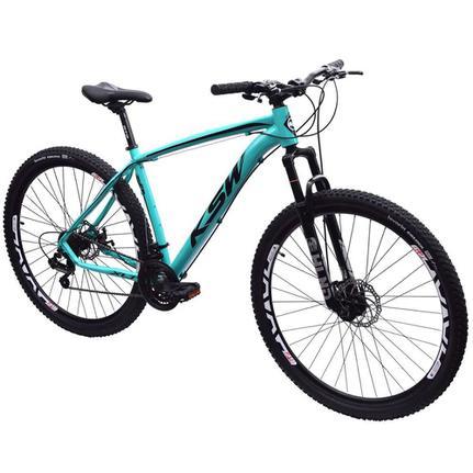 Bicicleta Ksw Ltx Disc H T17 Aro 29 Susp. Dianteira 24 Marchas - Azul