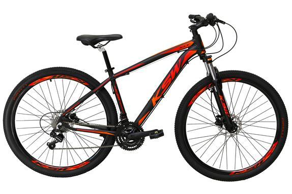 Bicicleta Ksw Xlt 2020 Disc H T15 Aro 29 Susp. Dianteira 24 Marchas - Preto/vermelho