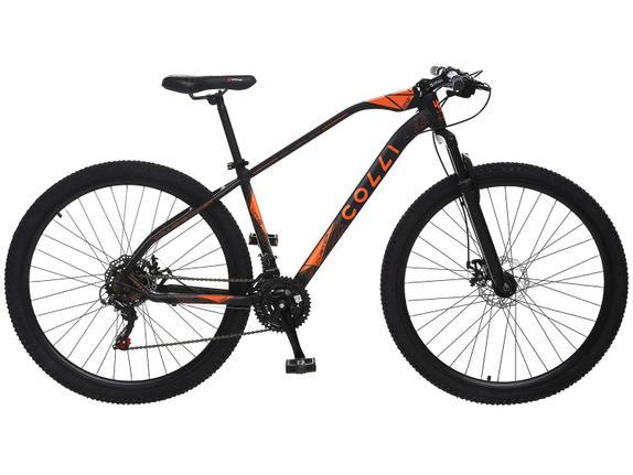 Bicicleta Colli Bike Duster Aro 29 Susp. Dianteira 21 Marchas - Preto
