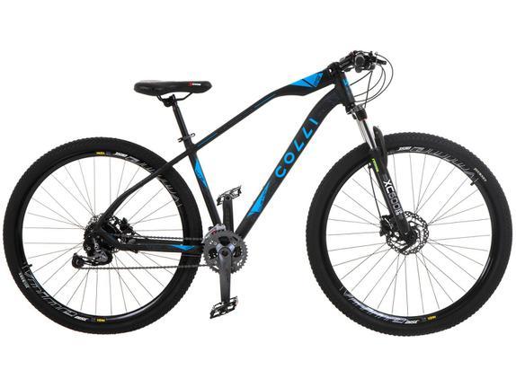 Bicicleta Colli Bike Duster Aro 29 Susp. Dianteira 27 Marchas - Azul/preto