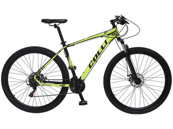 Bicicleta Colli Bike F11 Aro 29 Susp. Dianteira 24 Marchas - Amarelo