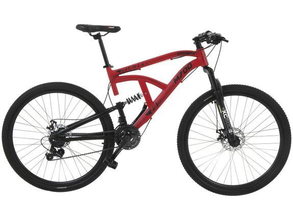 Bicicleta Colli Bike M700 Aro 29 Full Suspensão 21 Marchas - Vermelho