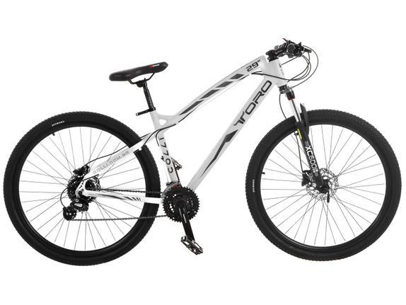 Bicicleta Colli Bike Toro Aro 29 Susp. Dianteira 24 Marchas - Branco