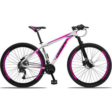 Bicicleta Dropp Aluminium 2020 Disc H T15 Aro 29 Susp. Dianteira 27 Marchas - Branco/rosa