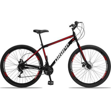 Bicicleta Dropp Sport T17 Aro 29 Rígida 21 Marchas - Preto/vermelho