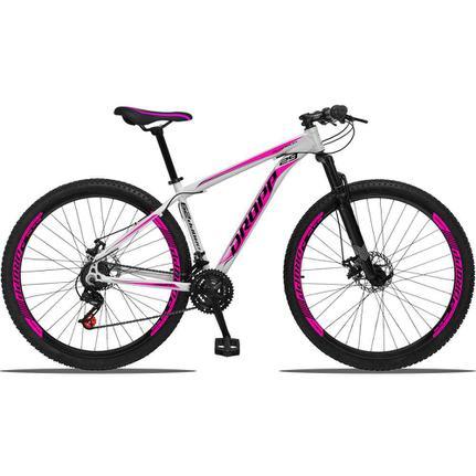 Bicicleta Dropp Aluminum T17 Aro 29 Susp. Dianteira 21 Marchas - Branco/rosa