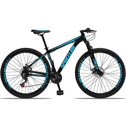 Bicicleta Spaceline Orion Disc T17 Aro 29 Susp. Dianteira 21 Marchas - Azul/preto