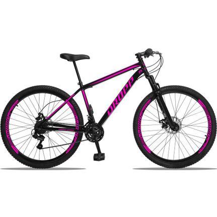 Bicicleta Dropp Sport T19 Aro 29 Susp. Dianteira 21 Marchas - Preto/rosa