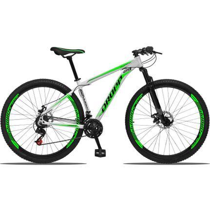Bicicleta Dropp Aluminum T19 Aro 29 Susp. Dianteira 21 Marchas - Branco/verde