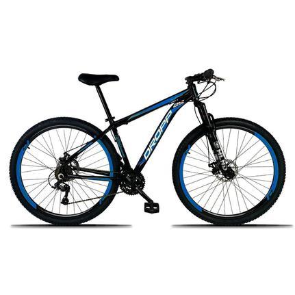 Bicicleta Dropp Aluminum Disc M T21 Aro 29 Susp. Dianteira 21 Marchas - Azul/preto