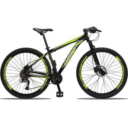 Bicicleta Dropp Aluminum Disc H T21 Aro 29 Susp. Dianteira 27 Marchas - Amarelo/preto