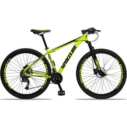 Bicicleta Spaceline Orion Disc T21 Aro 29 Susp. Dianteira 27 Marchas - Amarelo