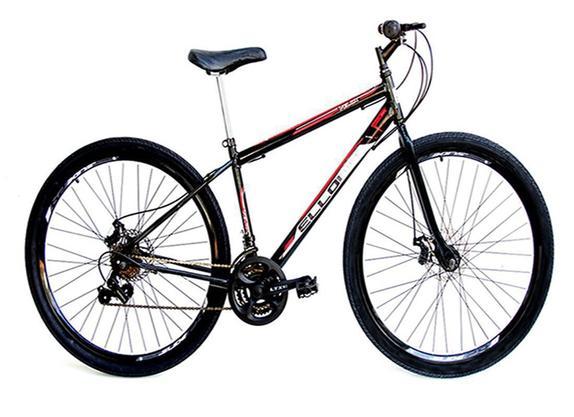 Bicicleta Ello Bike Velox Aro 29 Susp. Dianteira 21 Marchas - Preto/vermelho