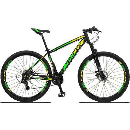 Bicicleta Dropp Z3 Disc M T17 Aro 29 Susp. Dianteira 21 Marchas - Amarelo/verde