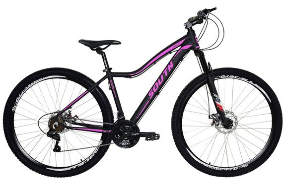 Bicicleta South Bike Schon T15 Aro 29 Susp. Dianteira 24 Marchas - Preto/rosa