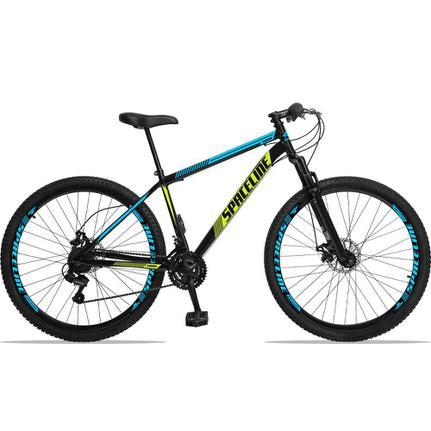 Bicicleta Spaceline Moon Disc T19 Aro 29 Susp. Dianteira 21 Marchas - Amarelo/azul