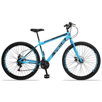 Bicicleta Spaceline Moon Disc T17 Aro 29 Rígida 21 Marchas - Azul/preto