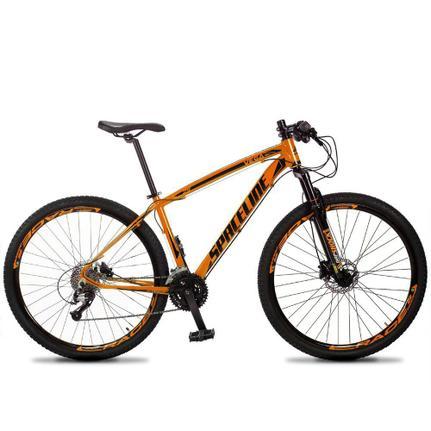 Bicicleta Spaceline Aro 29 Susp. Dianteira 27 Marchas - Laranja/preto