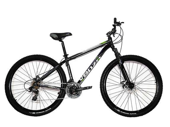 Bicicleta Venzo Bike Talon Aro 29 Susp. Dianteira 27 Marchas - Preto/verde
