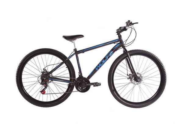 Bicicleta Woltz Expression Aro 29 Susp. Dianteira 21 Marchas - Azul/preto