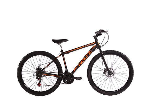 Bicicleta Woltz Expression Aro 29 Susp. Dianteira 21 Marchas - Laranja/preto