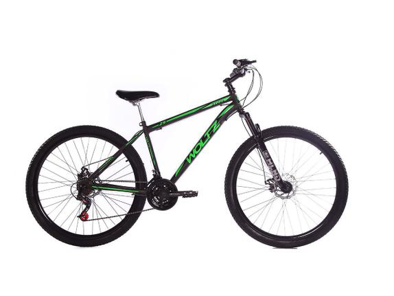 Bicicleta Woltz Expression Aro 29 Susp. Dianteira 21 Marchas - Preto/verde