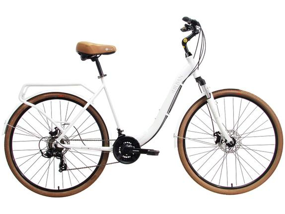 Bicicleta Tito Bike Urban Aro 700 Susp. Dianteira 21 Marchas - Branco