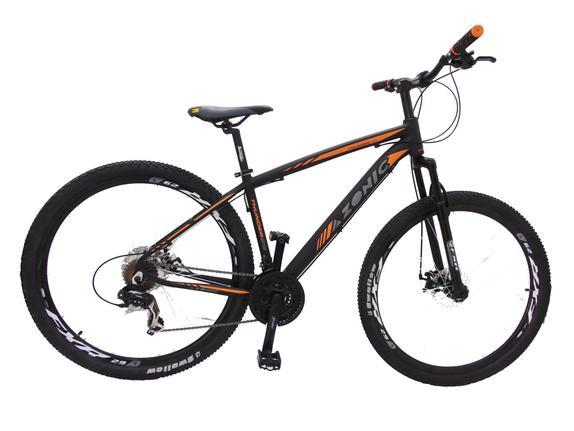 Bicicleta Azonic Thunder T17 Aro 29 Susp. Dianteira 24 Marchas - Laranja/preto