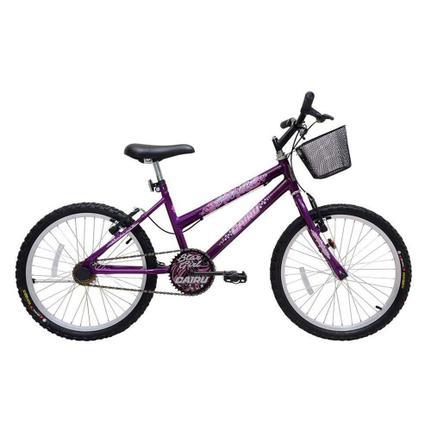 Bicicleta Cairu Star Girl Aro 20 Rígida 1 Marcha - Roxo