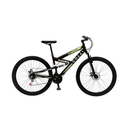 Bicicleta Colli Bike M700 Aro 29 Full Suspensão 21 Marchas - Amarelo/preto