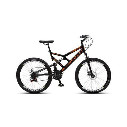Bicicleta Colli Bike Gps Aro 26 Full Suspensão 21 Marchas - Laranja/preto