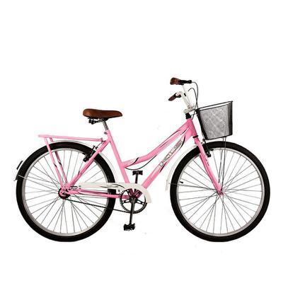 Bicicleta Kls Retrô Aro 26 Rígida 1 Marcha - Rosa