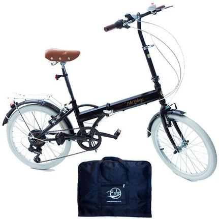 Bicicleta Echo Vintage Fênix Aro 20 Rígida 6 Marchas - Preto