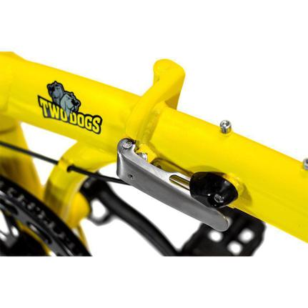 Bicicleta Two Dogs Pliage Plus Aro 20 Rígida 7 Marchas - Amarelo