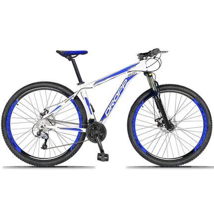 Bicicleta Dropp Aluminum Disc H T15 Aro 29 Susp. Dianteira 27 Marchas - Azul/branco