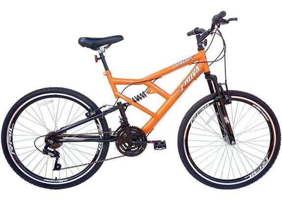Bicicleta Xnova Impact Hx1 Aro 26 Full Suspensão 18 Marchas - Laranja