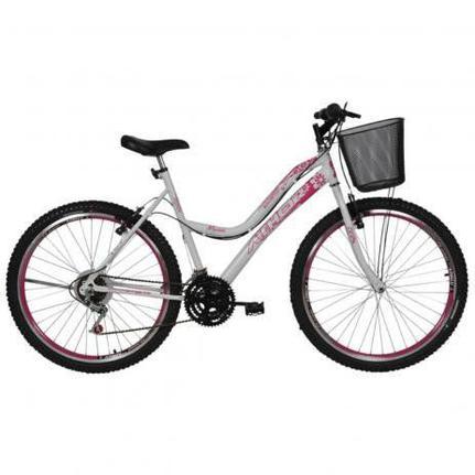 Bicicleta Athor Bike Musa Aro 24 Rígida 18 Marchas - Branco/rosa