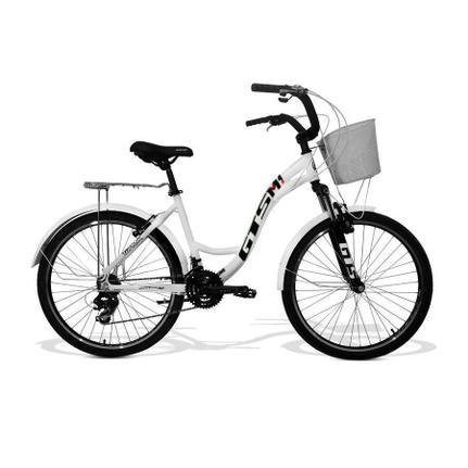 Bicicleta Gts M1 Walk Urbano Aro 26 Susp. Dianteira 21 Marchas - Branco