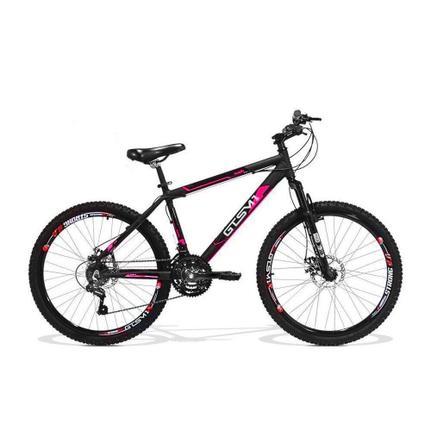 Bicicleta Gts M1 Walk New Disc T19 Aro 26 Susp. Dianteira 21 Marchas - Preto/vermelho