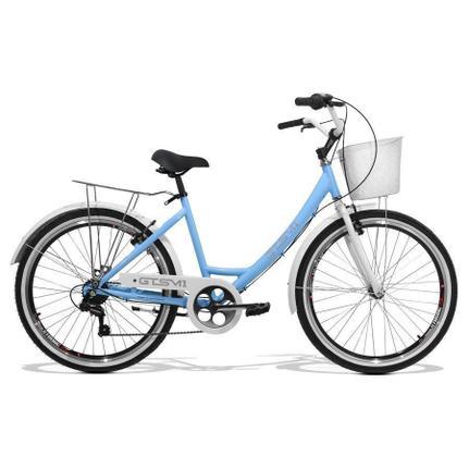 Bicicleta Gts M1 Ks Retrô Aro 26 Rígida 7 Marchas - Azul