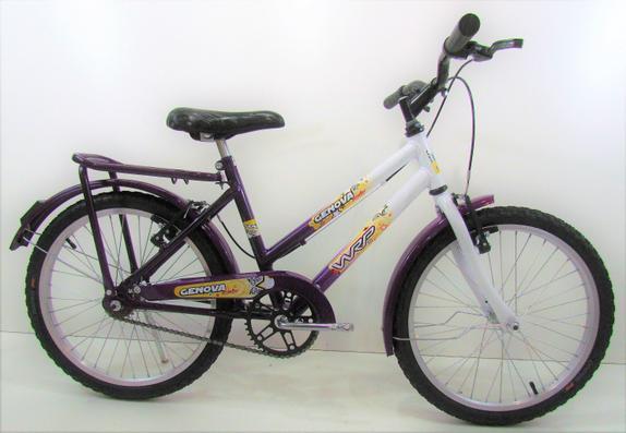Bicicleta Wrp Bikes Genova Aro 20 Rígida 1 Marcha - Branco/violeta